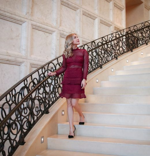 The Best Cranberry Holiday Party Dress